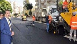 Çukurova'da bozulan parke yol asfaltlandı
