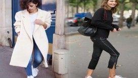 Beyaz spor ayakkabı kombin önerileri