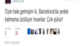 Çakma Arda Turan'dan güldüren tweetler