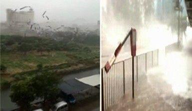 Hong Kong'u tayfun vurdu