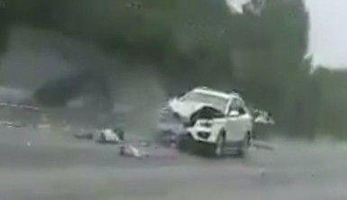 Kaza geliyorum dedi