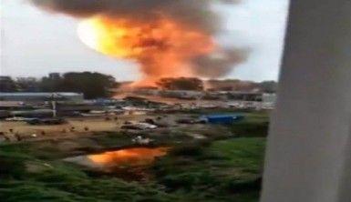 Akaryakıt istasyonunda tanker patladı !