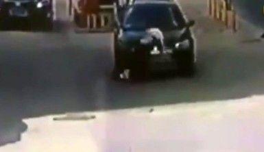 Aracıyla kadını böyle ezdi