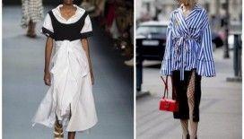 Düğüm ve bağlama detaylı kıyafetler yeni sezonda da trend