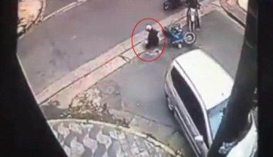 Motosikletli hırsız kaza yapınca yakalandı