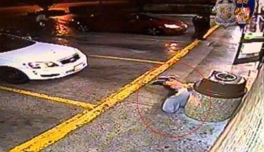 Polis soyguncuyu böyle vurdu