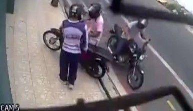 Motosiklet gasbı sivil polise takıldı