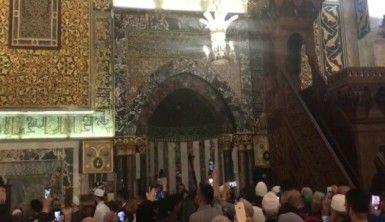İsrail askerleri, ibadet edilen mescid-i Aksa'nın ışıklarını kapattı