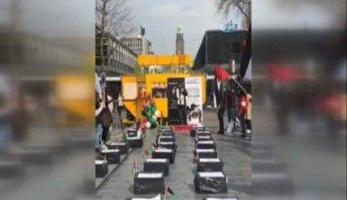 Gazze'deki yürüyüşe Avrupa şehirlerinden de destek