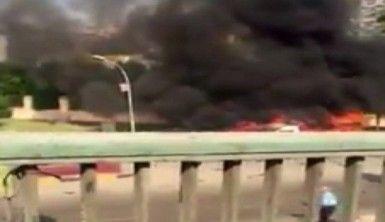 Bomba yüklü araç patlatıldı