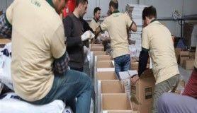 46 tırdan oluşan yardım konvoyu Kilis'ten yola çıktı