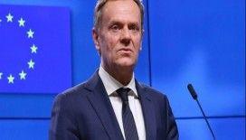 Avrupa Konseyi Başkanı Tusk'tan, Gürcistan halkına övgü