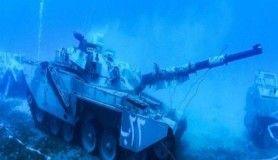 Dünyada bir ilk, askeri araçlar su altında sergilenecek