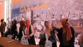 Filistinli sanatçılardan Gazze'deki acıları anlatan sergi