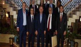 Başakşehir ve Olympiakoslu yöneticiler dostluk yemeğinde buluştu
