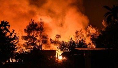 Yunanistan'daki orman yangını devam ediyor