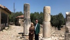 Cumhurbaşkanı Erdoğan Stratonikeiaı Antik Kenti'ni gezdi