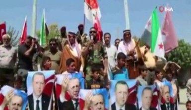 Suriyelilerden Afrin'de Türkiye'ye teşekkür gösterisi