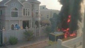 Birleşik Arap Emirlikleri'nde okul servisi alev aldı