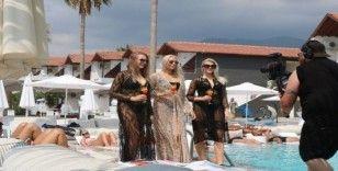 Fin güzelleri Alanya'da kampa girdi
