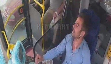 Yolcu dolu otobüsle yönünü hastaneye çevirdi