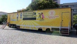 Kültür ve Turizm Bakanı Mehmet Nuri Ersoy, 'Gezen Sinema Tırı'nı uğurladı
