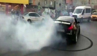 İstanbul'da 'drift' terörü kamerada