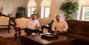 KAPTİD Başkanı Dinler, Belediye Başkanı Arı'yı ziyaret etti