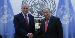 KKTC Cumhurbaşkanı Akıncı BM Genel Sekreteri Guterres ile görüştü