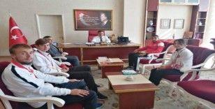 Şampiyon sporculardan Simav Kaymakam Halim'e ziyaret