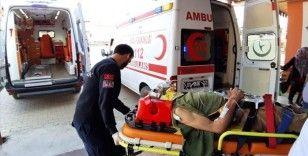 Ambulans helikopter, trafik kazası yaralısı için havalandı