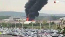 Bombardıman uçağı düştü