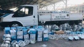 Kilis'te kaçak elektrik malzemesi ele geçirildi