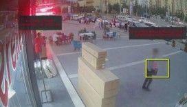 Gaziantep'te hırsızlık anı kamerada