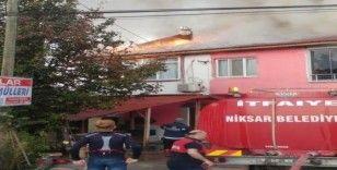 Tokat'ta ekmek fırınının bacası yangına sebep oldu