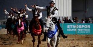 4. Etnospor Kültür Festivali'nde Azerbaycan-Karabağ at gösterisi büyük ilgi gördü