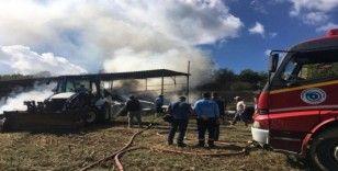 Tamir yaparken çiftlik yandı