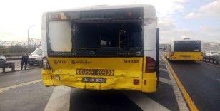 Beyoğlu Halıcıoğlu'nda metrobüsler çarpıştı: 13 yaralı