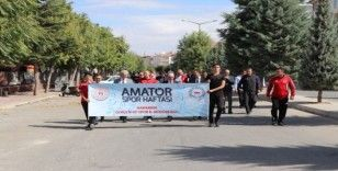 """Karaman'da """"Amatör spor haftası"""" etkinlikleri kortej yürüyüşü ile başladı"""