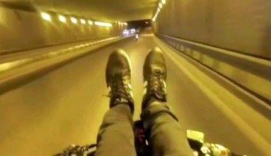Bitmek bilmeyen magandalar yine İstanbul trafiğinde boy gösterdi