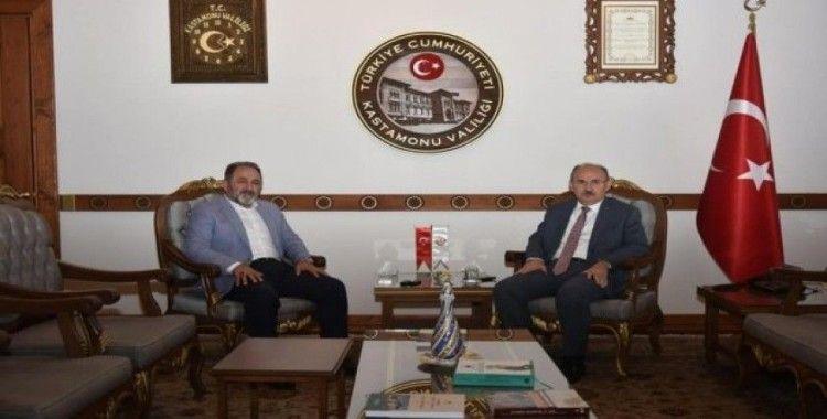 Eski vekil Demir, Vali Karadeniz, Rektör Topal ve Başkan Aydoğan ile görüştü