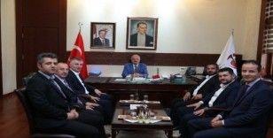 Vali Çakacak, Büro Memur-Sen Genel Başkanı Yılancı'yı kabul etti