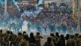 Ekvator'da protestolar devam ediyor: Hükümet başkentten taşındı, 570 kişi gözaltında