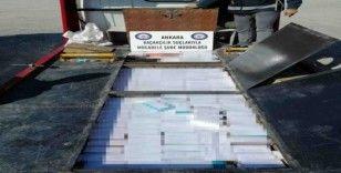 Başkent'te 9 bin paket kaçak sigara ele geçirildi