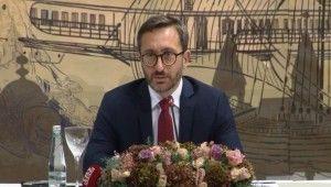 İletişim Başkanı Prof. Dr. Fahrettin Altun, medya yöneticileri ile bir araya geldi