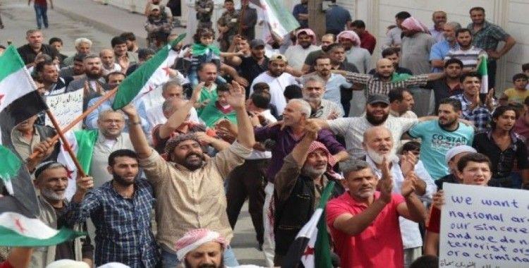 El Bab halkından Barış Pınarı Harekatı'na destek