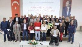 Arı yetiştiriciliği ve hastalıkları kursuna katılanlar sertifikalarına kavuştu