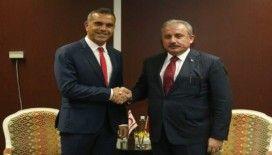 TBMM Başkanı Şentop, PAB Başkanı Barron ile görüştü