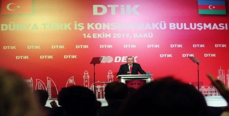 Cumhurbaşkanı Erdoğan, Dünya Türk İş Konseyi Bakü Buluşması Toplantısı'na katıldı