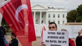 Türklerden Beyaz Saray önünde Barış Pınarı Harekatı'na destek gösterisi